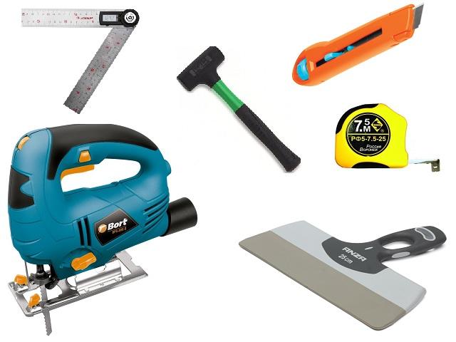 Инструменты для обшивка стен гипсокартоном