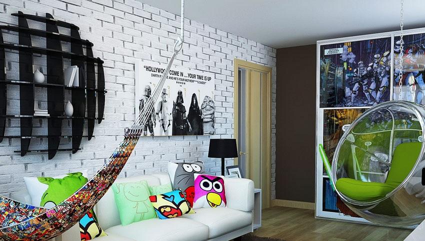Необычный дизайн комнаты для подростка мальчика
