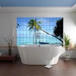 Морской интерьер ванной комнаты