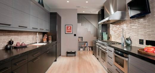 Расположение кухонной мебели