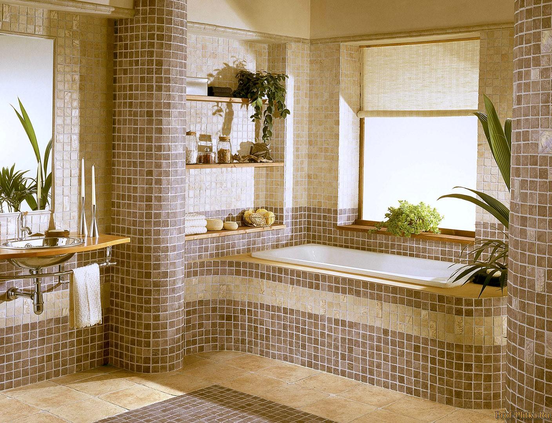Ванная дизайн в мозаике